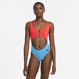 Nike Women's Color-Block 1-Piece Swimsuit