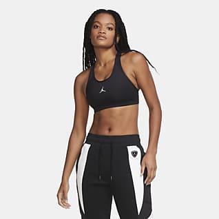 Jordan Jumpman สปอร์ตบราผู้หญิงซัพพอร์ตระดับกลางมีแผ่นฟองน้ำ 1 ชิ้น