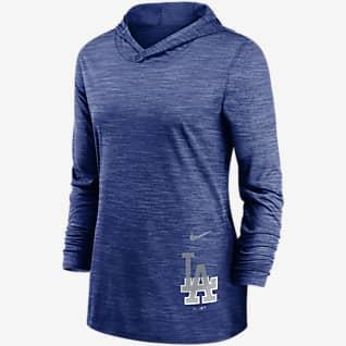 Nike Dri-FIT Split Legend (MLB Los Angeles Dodgers) Women's Long-Sleeve Hooded Training Top