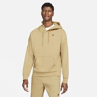 NikeCourt Fleece Erkek Kapüşonlu Tenis Üstü