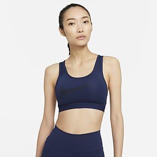 Nike Dri-FIT Swoosh Icon Clash 女款中度支撐型襯墊圖樣運動內衣
