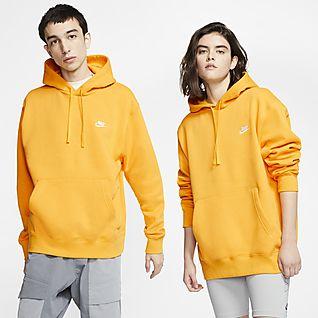 Felpa con cappuccio e zip a tutta lunghezza nike sportswear tech fleece uomo gold nike giallo cappuccio