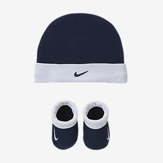 Nike Baby (0-6M) Hat and Booties Set