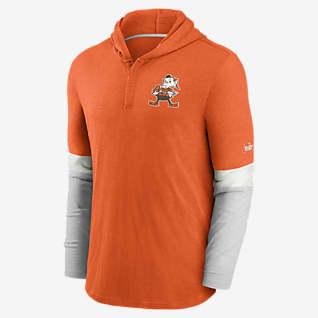 Nike Historic (NFL Browns) Men's Long-Sleeve Hooded Henley