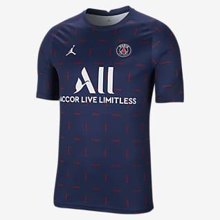 Paris Saint-Germain Camisola de futebol de manga curta do equipamento de aquecimento para homem