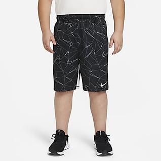 Nike Dri-FIT Shorts de entrenamiento estampados para niño talla grande (talla amplia)