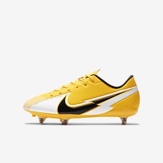 Nike Jr. Mercurial Vapor 13 Academy SG Fotbollssko för vått gräs för barn