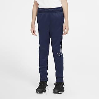 Nike Therma Pantalons estampats entallats d'entrenament - Nen