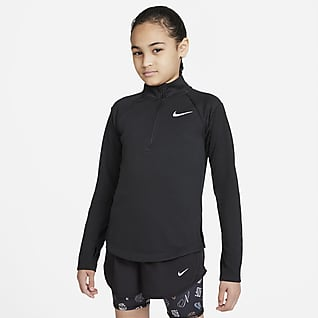 Nike Dri-FIT Langærmet løbeoverdel til større børn (piger)