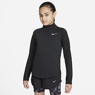Nike Dri-FIT Langermet løpeoverdel til store barn (jente)