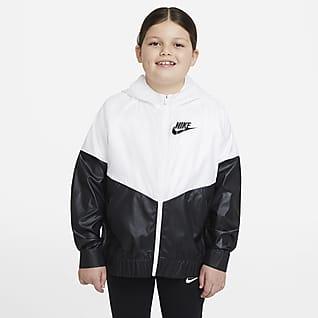 Nike Sportswear Windrunner Chamarra para niñas talla grande (talla extendida)