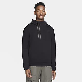 Nike Sportswear Tech Fleece Ανδρική μπλούζα με κουκούλα και φερμουάρ στο μισό μήκος
