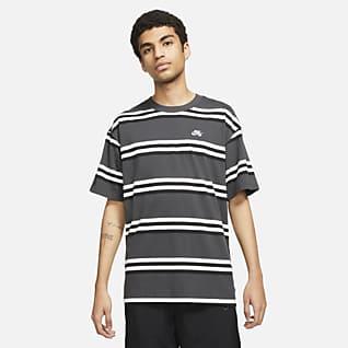 Nike SB T-shirt de skateboard às riscas para homem