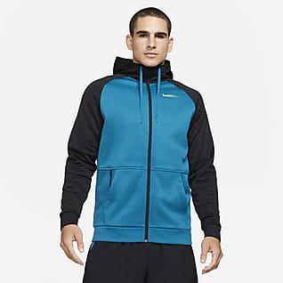 Nike Therma Sport Clash Trainings-Hoodie mit durchgehendem Reißverschluss für Herren