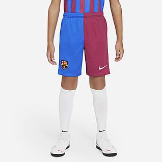 FC Barcelona 2021/22 Stadyum İç Saha/Deplasman Genç Çocuk Futbol Şortu