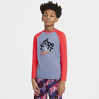 Nike JDI Camiseta de natación Hydroguard de manga larga para niño talla grande