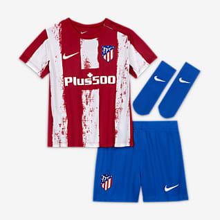 Atlético Madrid 2021/22 Home Fußballtrikot-Set für Babys und Kleinkinder