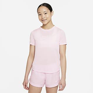 Nike Dri-FIT One Prenda superior de entrenamiento manga corta para niña talla grande
