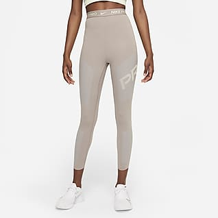 Nike Pro Dri-FIT Leggings a 7/8 de cintura subida com grafismo para mulher