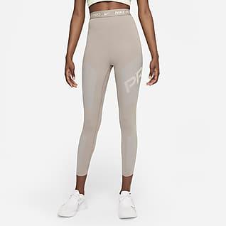 Nike Pro Dri-FIT 7/8-Leggings mit hohem Bund und Grafik für Damen