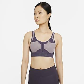 Nike Swoosh UltraBreathe สปอร์ตบราผู้หญิงซัพพอร์ตระดับกลาง