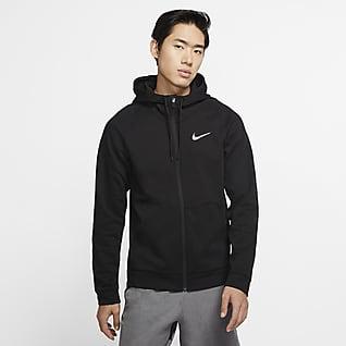 Nike Dri-FIT 男子针织全长拉链开襟训练连帽衫