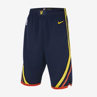 Golden State Warriors City Edition Spodenki dla dużych dzieci Nike NBA Swingman