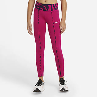 Nike One Big Kids' (Girls') Printed Leggings