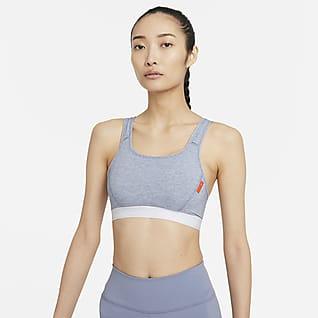 ナイキ Dri-FIT スウッシュ ソフト Tシャツ ウィメンズ ミディアムサポート ワンピース パッド スポーツブラ