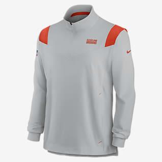 Nike Sideline Coaches Repel (NFL Cleveland Browns) Men's 1/4-Zip Jacket
