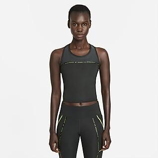 Nike Dri-FIT Taped Pack Hardlooptanktop voor dames
