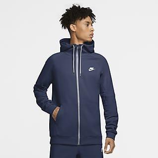 Nike Sportswear Sweat à capuche en Fleece à zip pour Homme