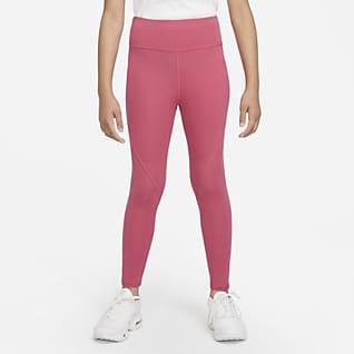 Nike Sportswear Favorites Legíny svysokým pasem apotiskem pro větší děti (dívky)
