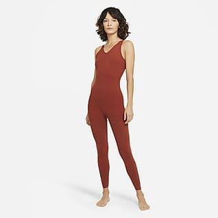 Nike Yoga Luxe Enterizo de 7/8 en capas para mujer