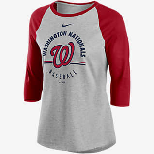 Nike Encircled (MLB Washington Nationals) Women's 3/4-Sleeve T-Shirt