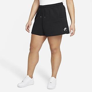 Nike Air Fleeceshorts för kvinnor (Plus Size)
