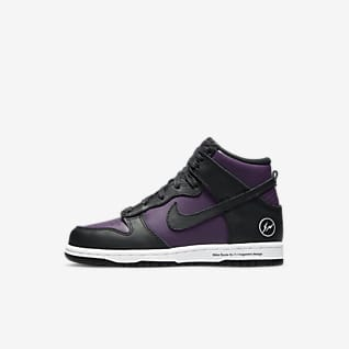 Nike x Fragment Dunk High Younger Kids' Shoe