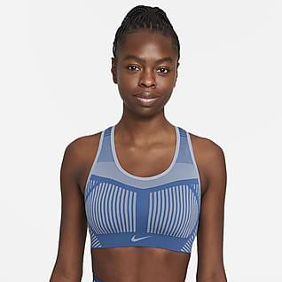 Nike FE/NOM Flyknit Sujetador deportivo sin almohadillas de sujeción alta para mujer