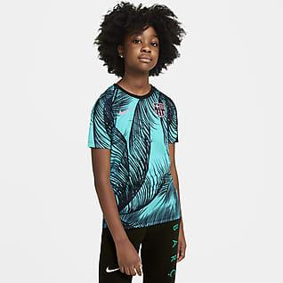 F.C. Barcelona Older Kids' Pre-Match Short-Sleeve Football Top