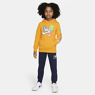 Nike Conjunto de pantalones y sudadera con gorro para niños talla pequeña