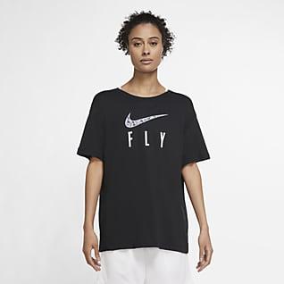 Nike Dri-FIT Swoosh Fly T-shirt da basket - Donna