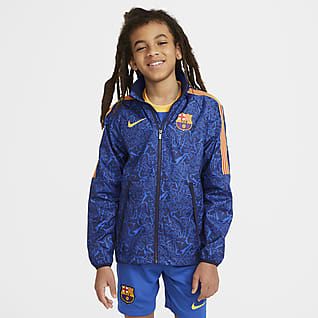 F.C. Barcelona AWF Older Kids' Football Jacket