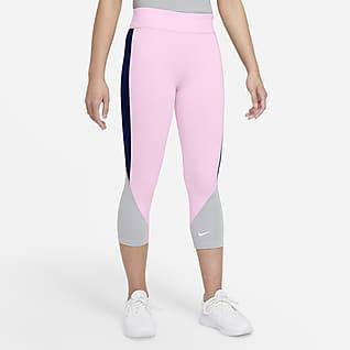 Nike Dri-FIT One เลกกิ้ง 3 ส่วนเอวสูงเด็กโต (หญิง)