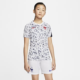 法国队 大童短袖足球上衣