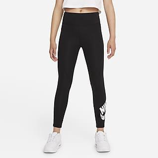 Nike Sportswear Favorites Big Kids' (Girls') High-Waisted Graphic Leggings