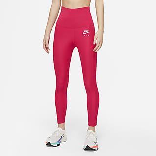 Nike Air Dri-FIT เลกกิ้งวิ่งขอบเอวพับทบ 7/8 ส่วนผู้หญิง