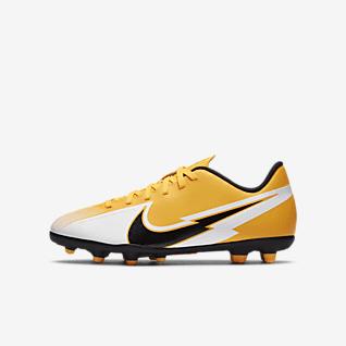 Nike Jr. Mercurial Vapor 13 Club MG รองเท้าสตั๊ดฟุตบอลเด็กเล็ก/โตสำหรับพื้นหลายประเภท