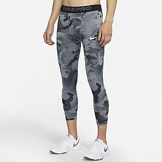 Nike Pro 3/4 男子迷彩训练紧身裤