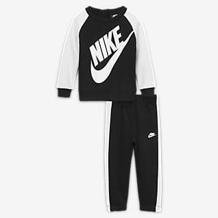 Nike Conjunto de sudadera de cuello redondo y pantalones para bebé (12-24M)