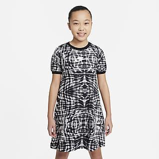 Nike Sportswear Платье с коротким рукавом и принтом для девочек школьного возраста